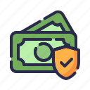 business, guard, insurance, investment, money insurance, protection, shield icon