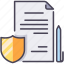 agreement, contract, document, insurance, paper, paperwork, policy icon