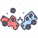 accident, broken, crash, damage, insurance, safety icon