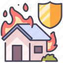 accident, damage, fire, house, insurance, protect, safety