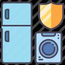 appliance, insurance, machine, protect, refrigerator, safety, washing