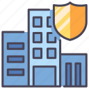 building, business, estate, insurance, protect, safety, service icon