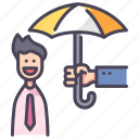 happy, insurance, life, people, protect, safety, support icon