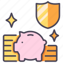 bank, business, finance, insurance, money, protect, safety icon