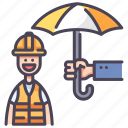 accident, health, injury, insurance, protect, safety, worker icon