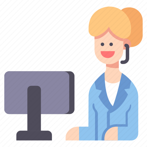 Call, center, headset, insurance, office, operator, support icon - Download on Iconfinder