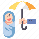 baby, care, child, insurance, life, protect, safety icon
