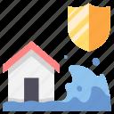 damage, disaster, flood, house, insurance, nature, safety