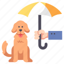 animal, care, dog, insurance, pet, protect, safety icon