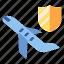 flight, fly, insurance, journey, safety, tourism, travel icon