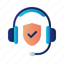 call center, guard, headphone, insurance, protection, shield, support