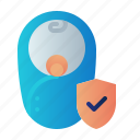 baby, child insurance, guard, insurance, kid, protection, shield icon