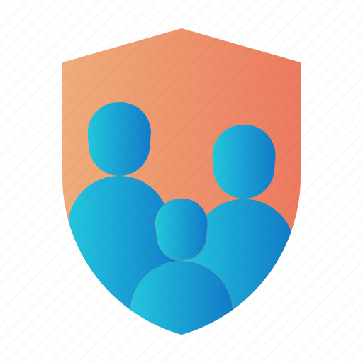 family insurance, guard, insurance, life insurance, people, protection, shield icon