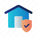 guard, home insurance, house, insurance, property, protection, shield icon