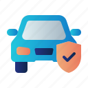 auto insurance, car insurance, guard, insurance, protection, shield, vehicle icon