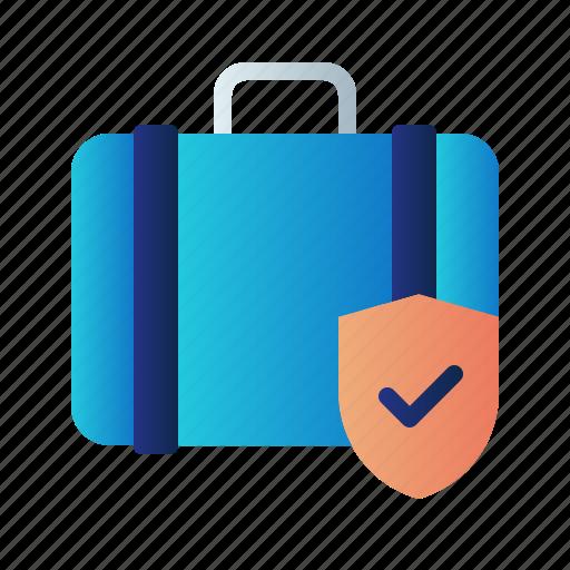 baggage insurance, flight insurance, guard, insurance, protection, shield, travel insurance icon