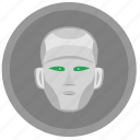 face, head, robot, skin icon