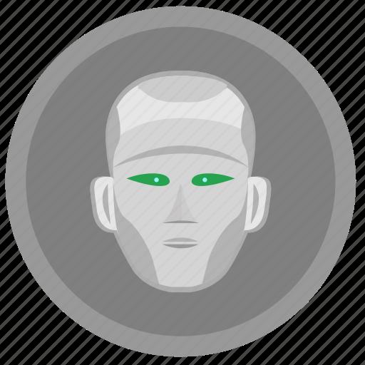 face, head, robot, skin icon