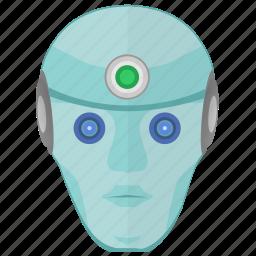 face, head, human, robot, skin icon