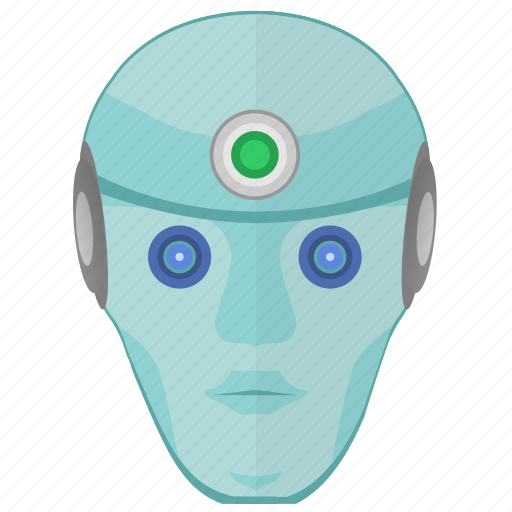 face, head, human, robot, skin icon