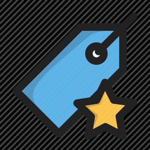 fav, favorite, price, star, tag icon