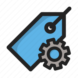 price, setting, settings, tag, tools icon