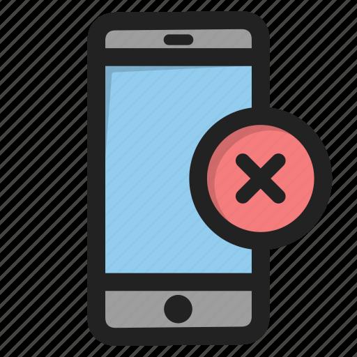 close, cross, delete, mobile, phone, smartphone, telephone icon