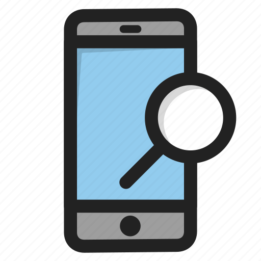 find, mobile, phone, search, smartphone, telephone icon