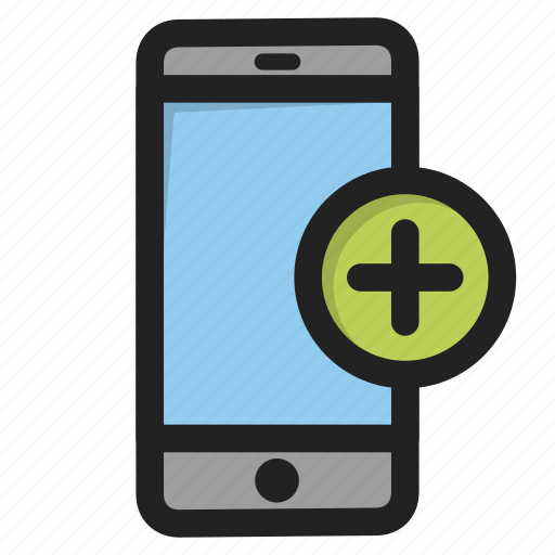 add, mobile, new, phone, plus, smartphone, telephone icon