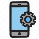 mobile, phone, setting, settings, smartphone, telephone, tools icon
