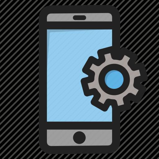 mobile, phone, setting, settings, smartphone, telephone, tools icon