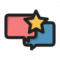 dialog, fav, favorite, forum, message, sms, star icon