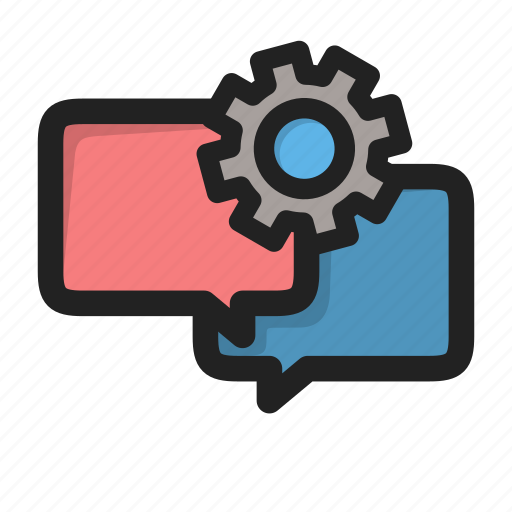 chat, dialog, edit, forum, message, setting, settings icon