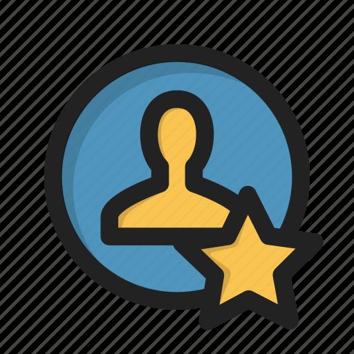 fav, favorite, person, profile, sign, star, user icon