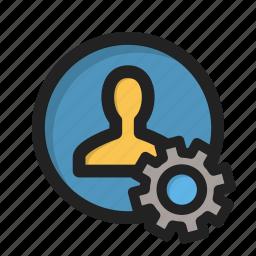 appearance, individual, person, profile, setting, settings, user icon