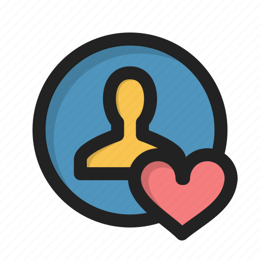 appearance, heart, individual, like, love, profile, user icon