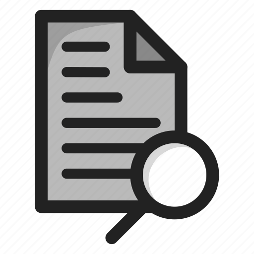 document, file, find, paper, search, text icon