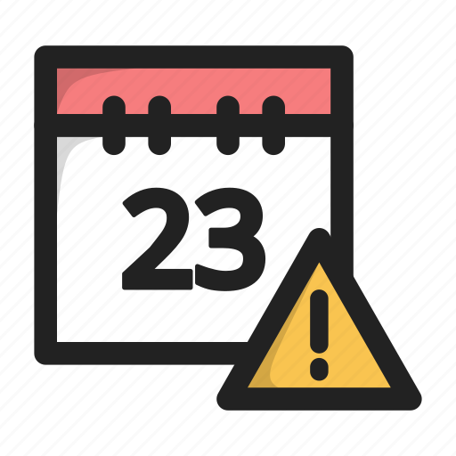 calendar, data, day, error, warning icon