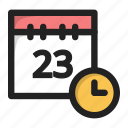 calendar, clock, data, day, time, wait icon