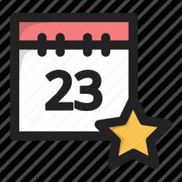 calendar, date, day, favorite, star icon
