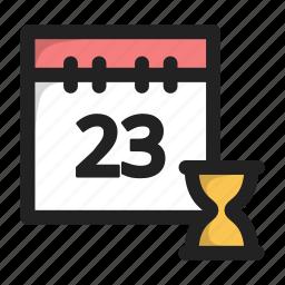 calend, calendar, clock, data, time, wait icon
