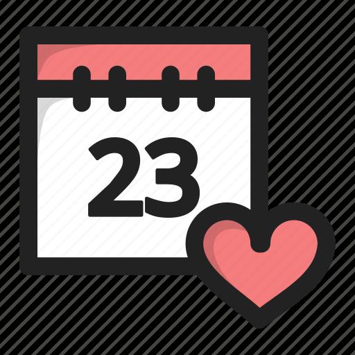 calend, calendar, data, day, favorite, heart icon
