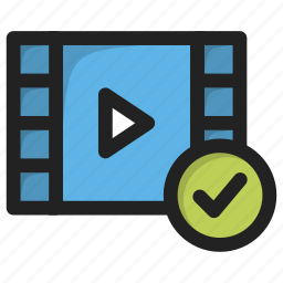 accept, create, movie, new, tick, vide, yes icon