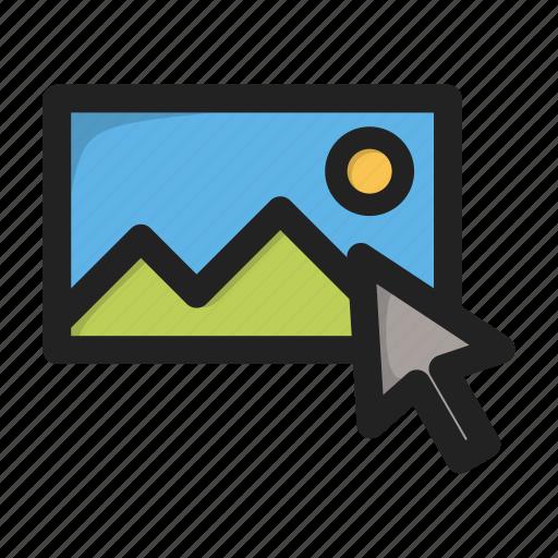 click, cursor, hover, image, pic, picture icon