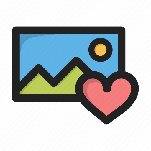 favorite, heart, image, love, pic, picture icon