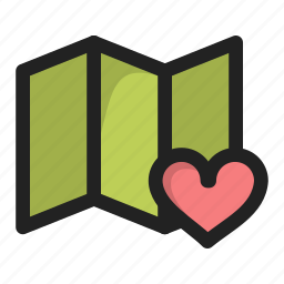 favorite, heart, lovation, love, map icon
