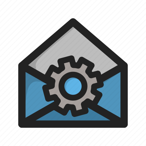 envelope, letter, mail, setting, settings, tools icon