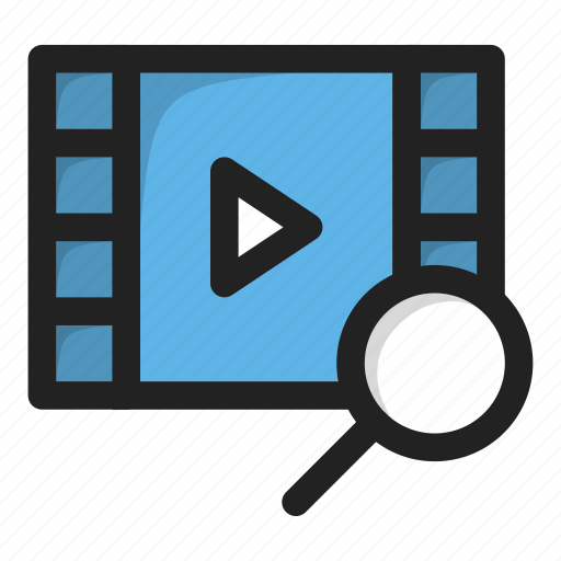find, movie, play, search, video icon