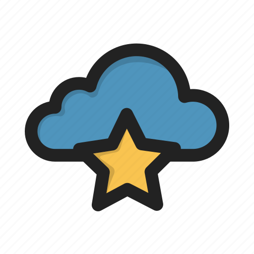 cloud, fav, favorite, star, storage icon