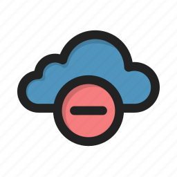 cloud, delete, hover, minus, storage icon